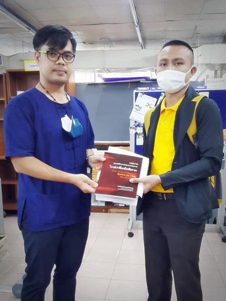 วันที่ 30 ก.ย. 2563 รับหนังสือบริจาค จากพันตำรวจโท สุภรณ์ กิจชมภู อาจารย์ (สบ 3) กลุ่มงานคณาจารย์ คณะตำรวจศาสตร์ โรงเรียนนายร้อยตำรวจ
