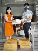 วันที่ 5 พ.ย. 2563 ออกรับหนังสือบริจาค จากมูลนิธิสยามกัมมาจล