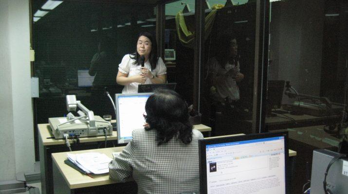 19-20 เม.ย. 2554 ฝึกอบรมการใช้ฐานข้อมูลอิเล็กทรอนิกส์เพื่อการสืบค้น จากบริษัท BookPromotion