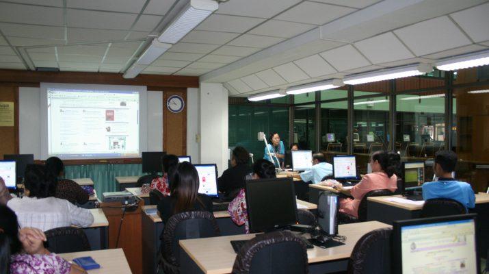 16 ก.ย. 2554 ฝ่ายบริการผู้อ่านจัดโครงการฝึกอบรมเชิงปฏิบัติการ ด้านการสืบค้นฐานข้อมูลและจัดเรียงหนังสือขึ้นชั้น