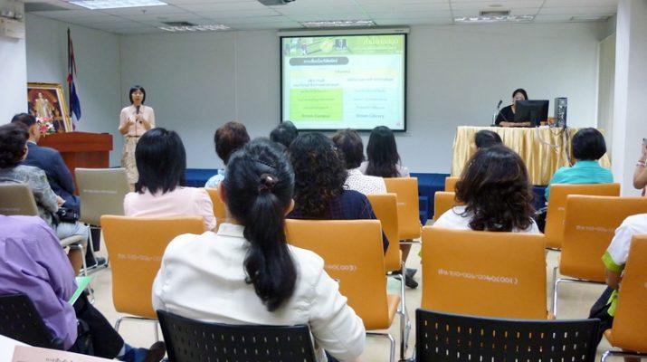 19 ก.ค. 2555 ผู้บริหารและบุคลากรสำนักหอสมุดกลางดูงานที่สำนักหอสมุดกลาง มหาวิทยาลัยเกษตรศาสตร์ บางเขน