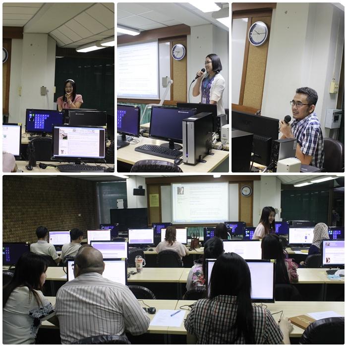 """โครงการอบรมเชิงปฏิบัติการ เรื่อง """"เทคนิคการใช้เว็บบอร์ด RU Library Backoffice Forum"""" (18 ส.ค. 2558)"""