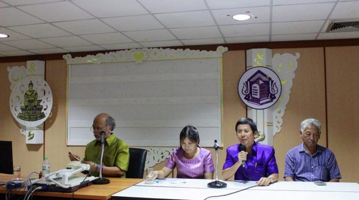 ประชุมสำนักหอสมุดกลางเพื่อรับฟังแนวทางการบริหารงานสำนักหอสมุดกลาง ปีงบประมาณ 2560