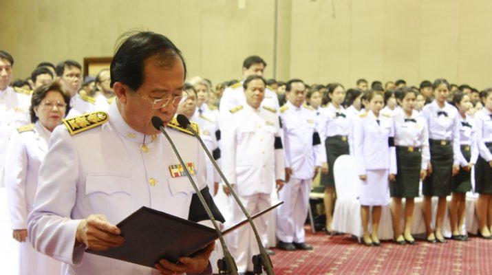 ภาพผู้ช่วยศาสตราจารย์วุฒิศักดิ์ ลาภเจริญทรัพย์ อธิการบดีมหาวิทยาลัยราม