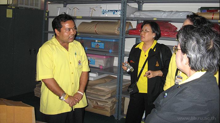 27 ก.พ. 2550 การศึกษาดูงานการดำเนินงานกิจกรรม 5 ส สำนักหอสมุดกลาง ม.บูรพา