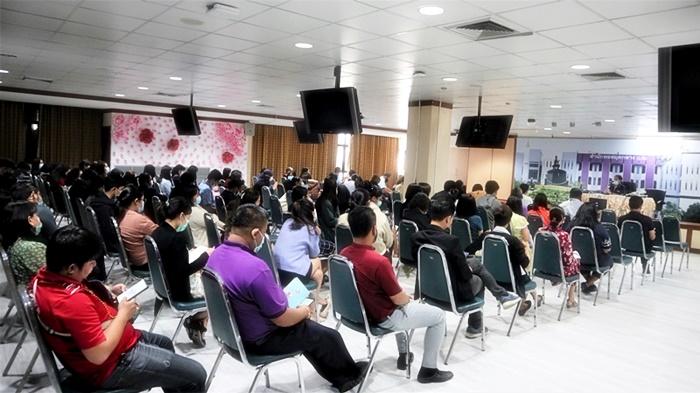 ภาพบุคลากรสำนักหอสมุดกลาง ร่วมประชุมฯ (29 มกราคม 2564)