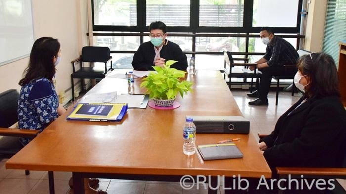 ภาพ สรอ. ตรวจประเมินฯ การให้บริการฝ่ายบริการสารสนเทศ (18 ก.พ. 2564)