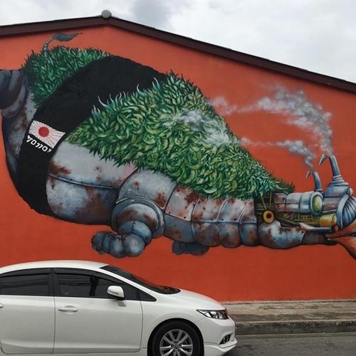 ภาพศิลปะ Street Art อำเภอบ้านโป่ง