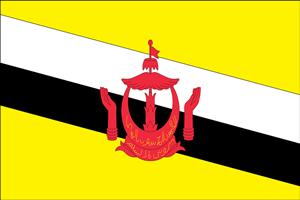 ภาพธงชาติบรูไน โดย mayns82 ที่มา https://pixabay.com/en/flag-country-brunei-1040541/