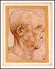 ภาพ Caricature of an old man by Leonardo da Vinci จาก http://www.liveauctiontalk.com/article_images/PRESS87.JPG