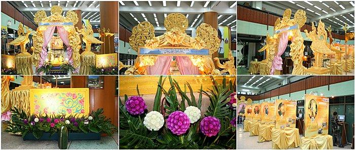 """บรรยากาศในนิทรรศการ """"ใต้ร่มพระบารมีจักรีวงศ์สร้างสังคมไทยเข้มแข็ง"""" จากมุมกล้องหลายๆ มุม"""