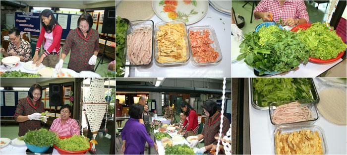 """ภาพ สาธิตการส่งเสริมอาชีพ """"ปรุงอาหารตามตำรา"""" โดย สาธิตการทำ ปอเป๊ยะสด (4 พ.ย. 2553)"""